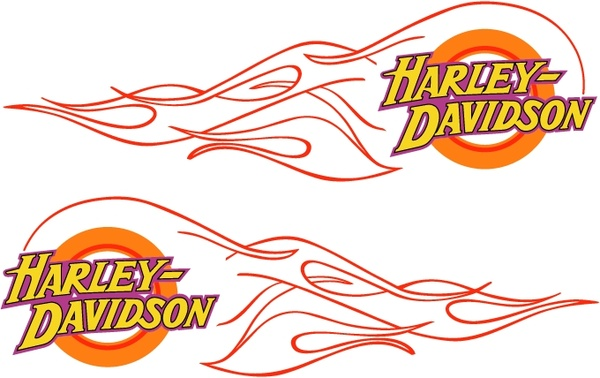 Harley davidson flame Free vector in Encapsulated PostScript eps.
