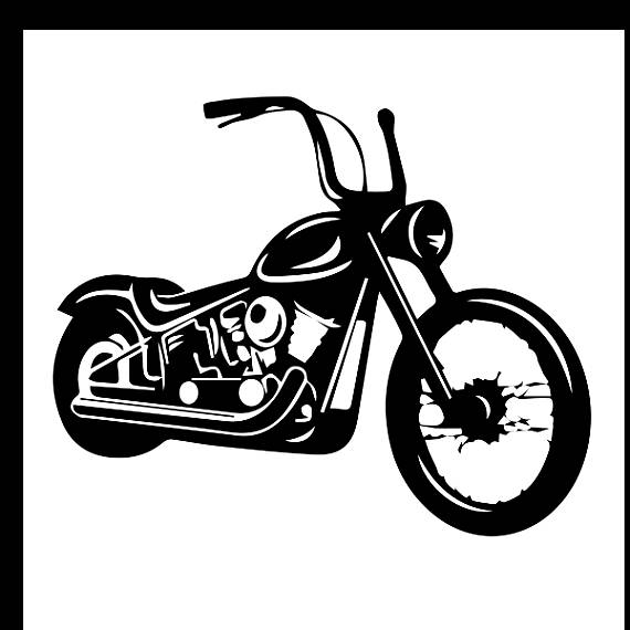 Harley davidson clipart black and white 2 » Clipart Station.