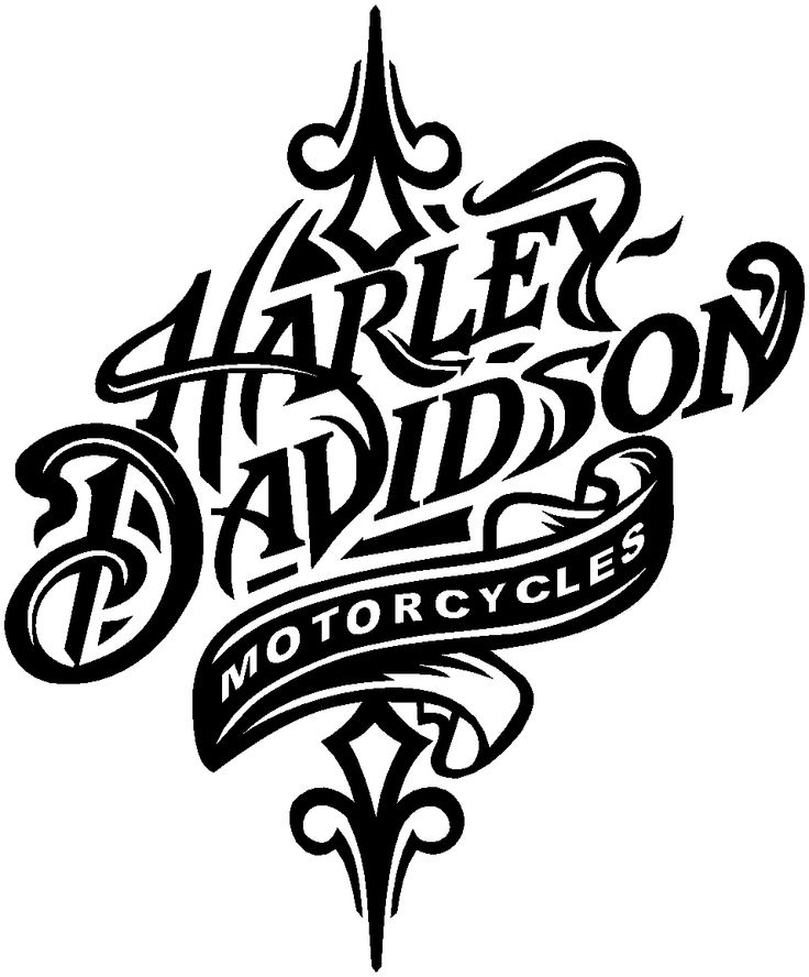 Harley Davidson Motorcycle Clipart Black And White.