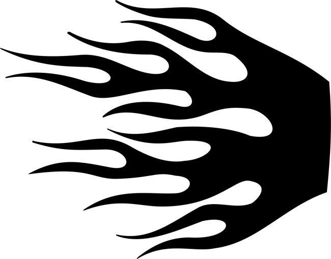 Wildfire Flame Stencil.