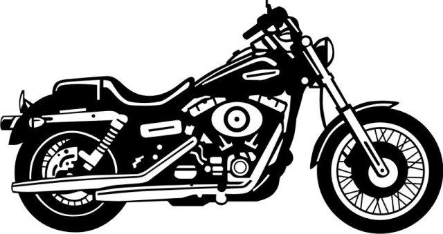 Harley davidson clipart black and white.