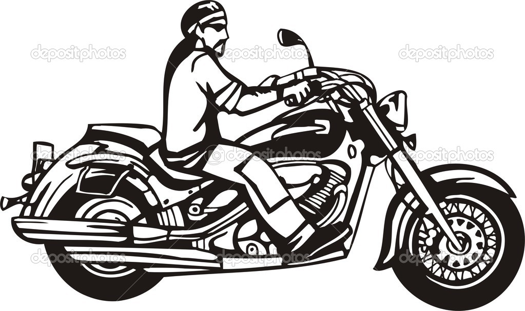 Free Harley Davidson Motorcycle Clipart Black And White.