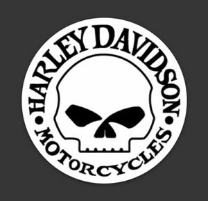 Details about Harley Davidson Motorcycles Logo Skull Round Vinyl Sticker  Decal Motorcycle.