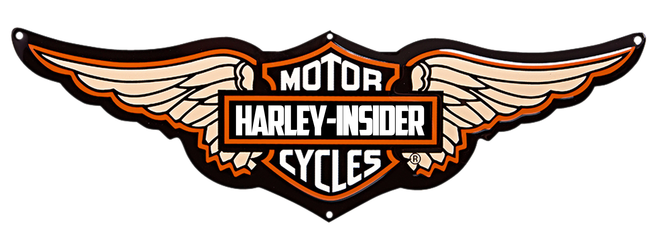 Download Harley Davidson Logo Wings PNG.
