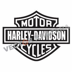 Harley Davidson Motor Cycles Logo Svg.