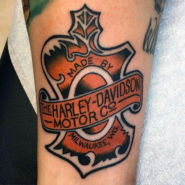 90 Harley Davidson Tattoos For Men.