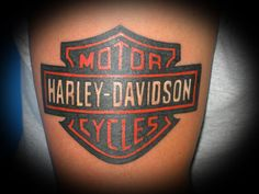 Harley Davidson Bike Logo Tattoo.
