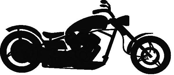 silhouette clip art harley biker.