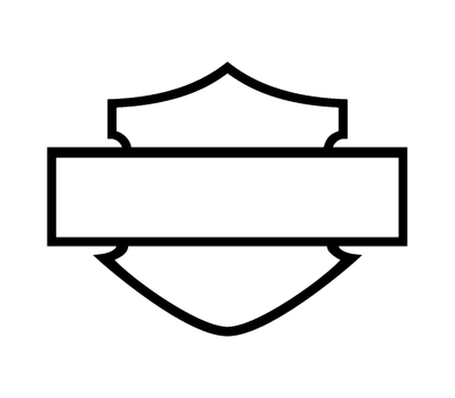 Harley Davidson Logo Silhouette.