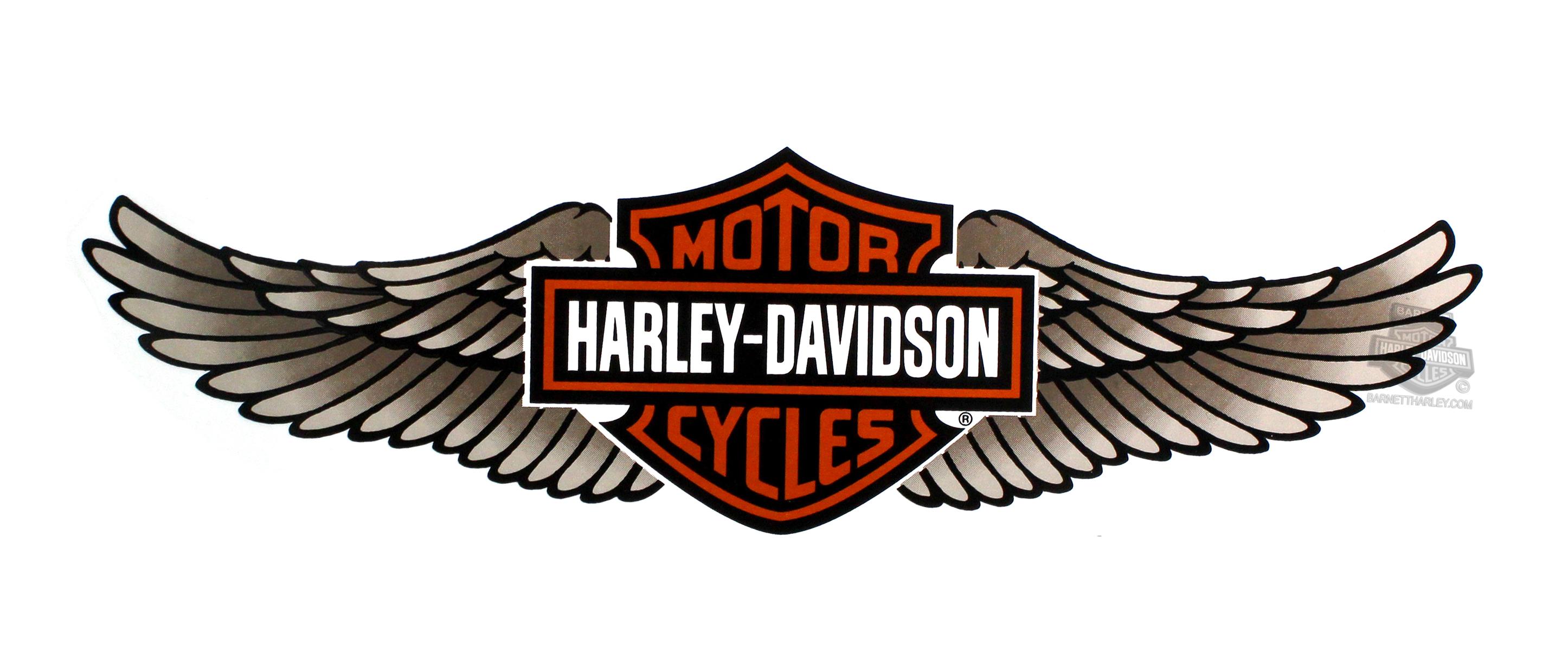 Harley davidson wings Logos.