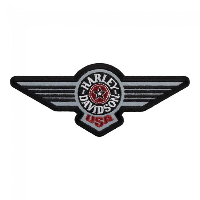 Harley Davidson Reflective Fat Boy Aviator Logo Patch.
