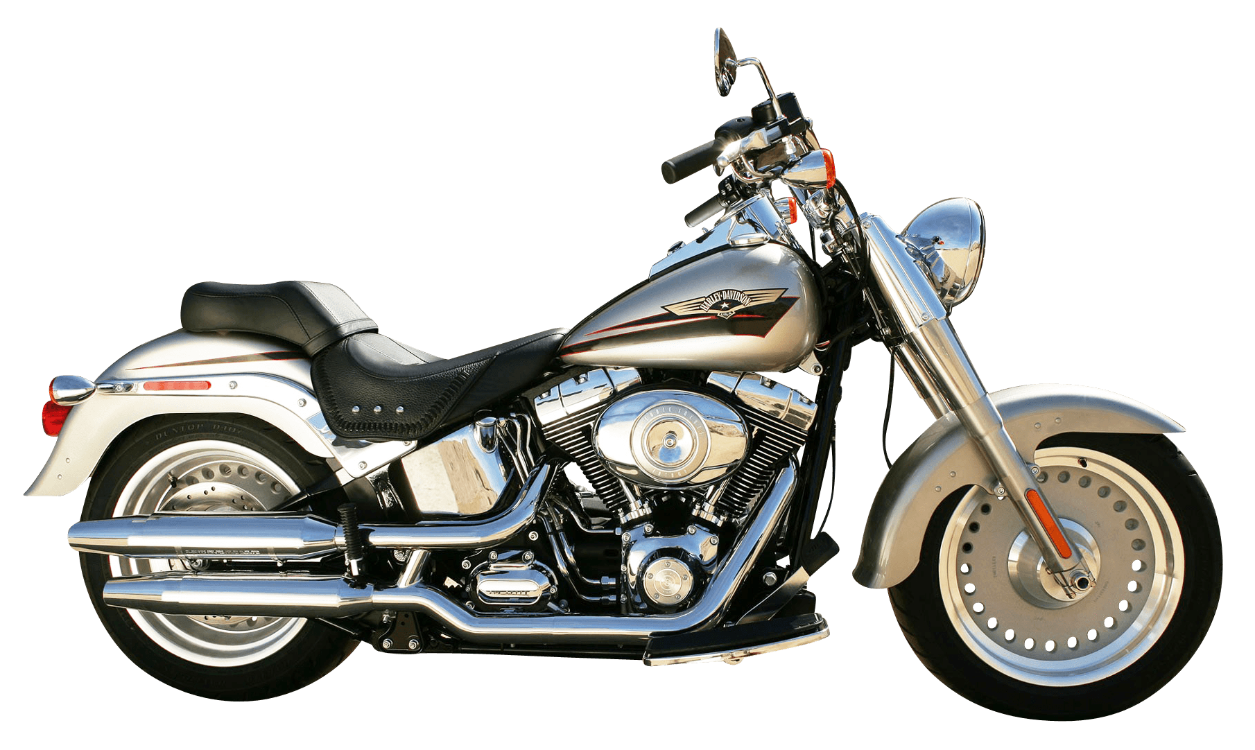 Harley Motorbike transparent PNG.