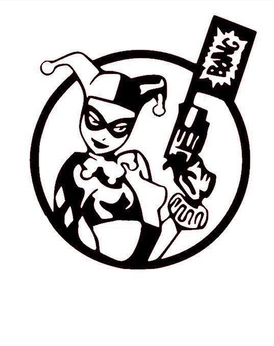 917 Harley Quinn free clipart.