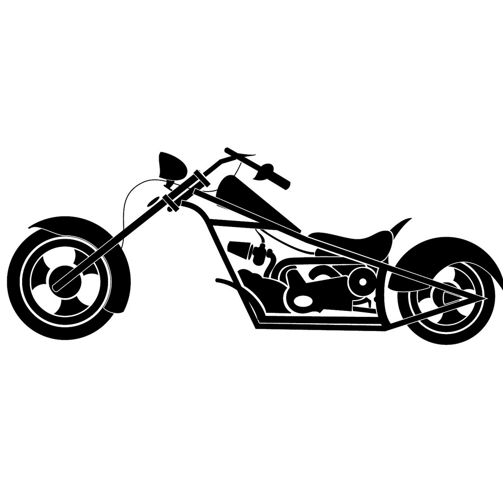 Silhouette Harley Davidson Clipart.