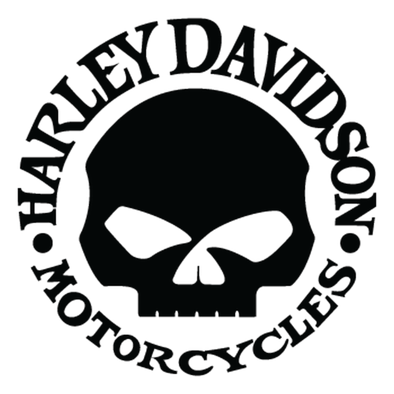 Harley Davidson Skull Decal.