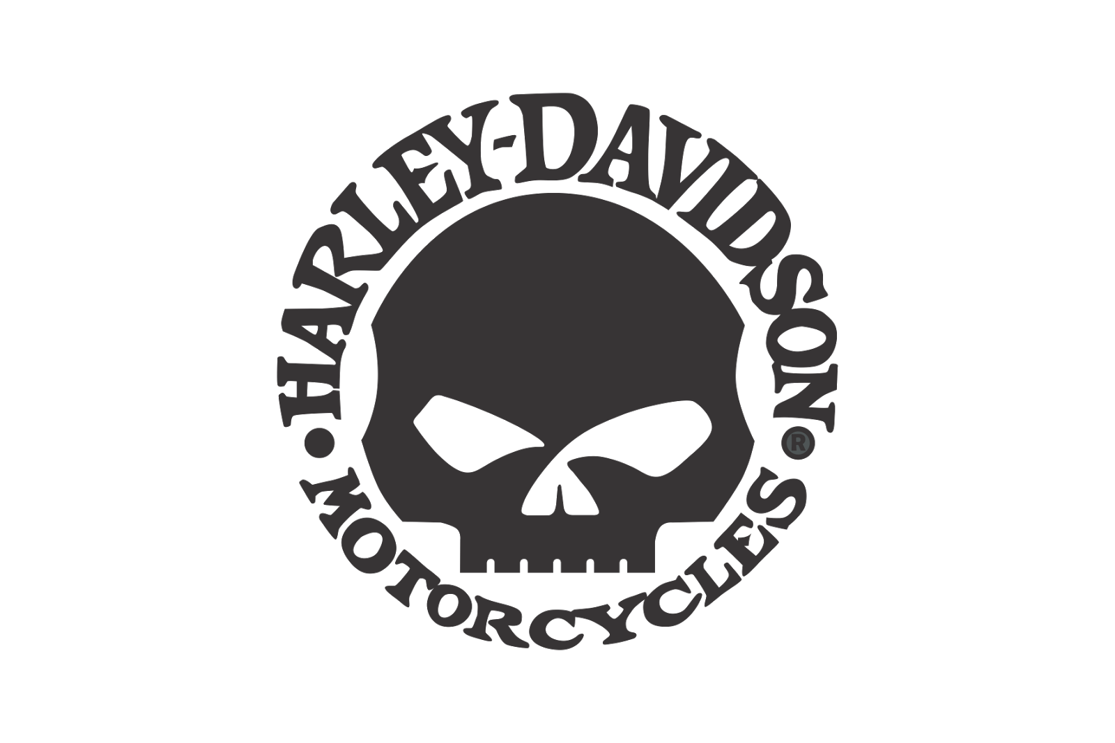 Free Harley Davidson Skull Logo Black And White, Download.