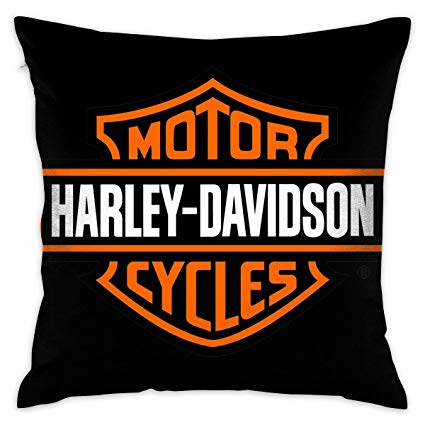 JIAYICENK Harley Davidson Logo Decorative Throw Pillow Covers Case  Pillowcases 18x18 in.