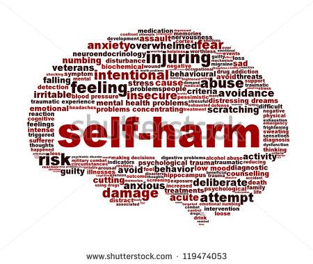 Self harm clipart.