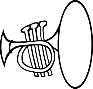 Trumpet Clipart, vector clip art online, royalty free design.