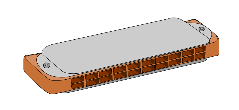 Free Clipart: Harmonica.