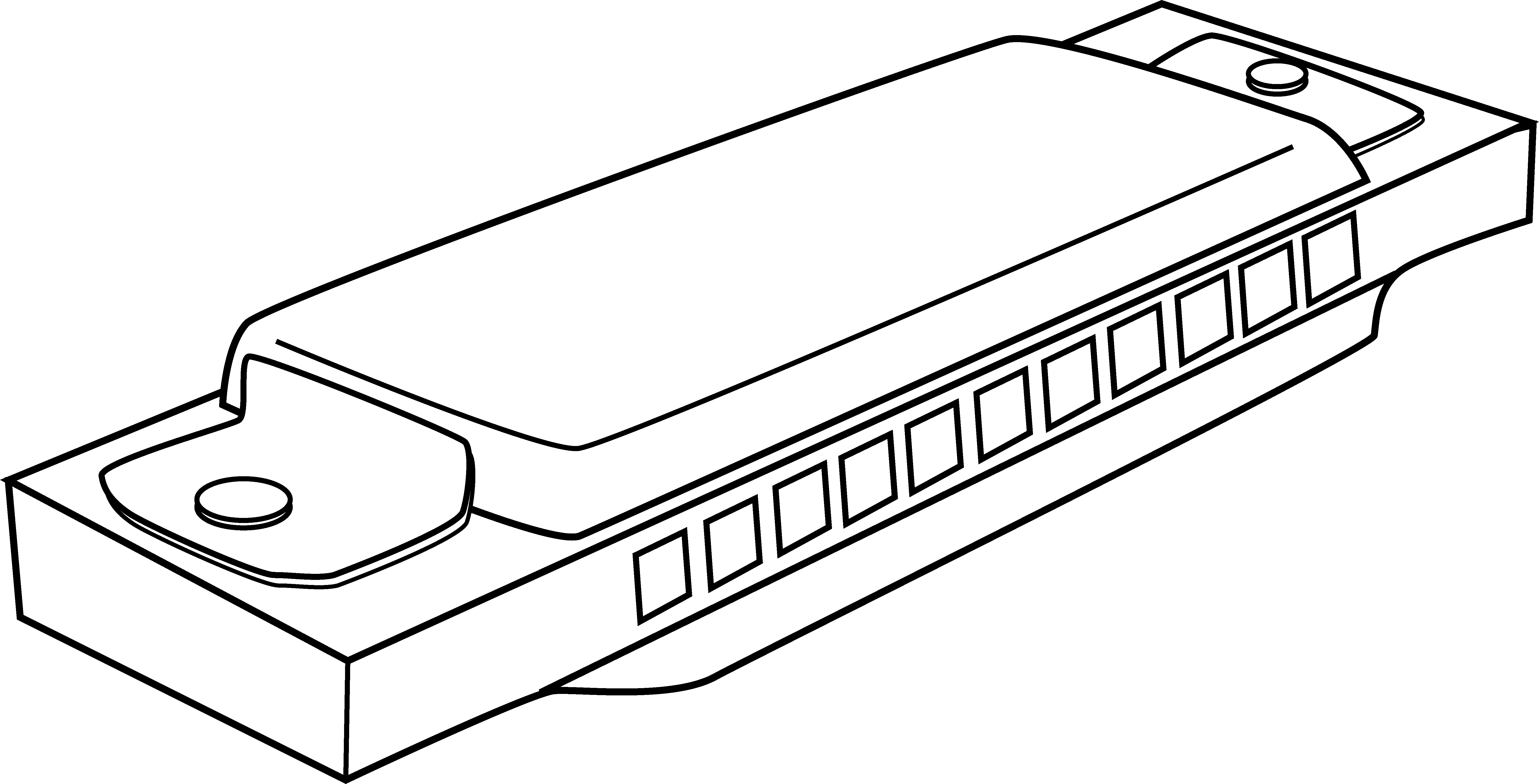 Harmonica Coloring Page.