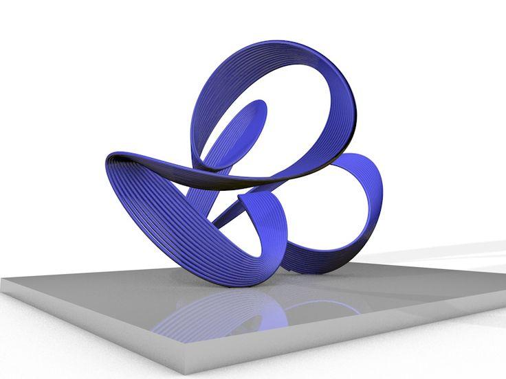 Purple Frequency Ribbon ©2015 Harmonograph Sculpture.