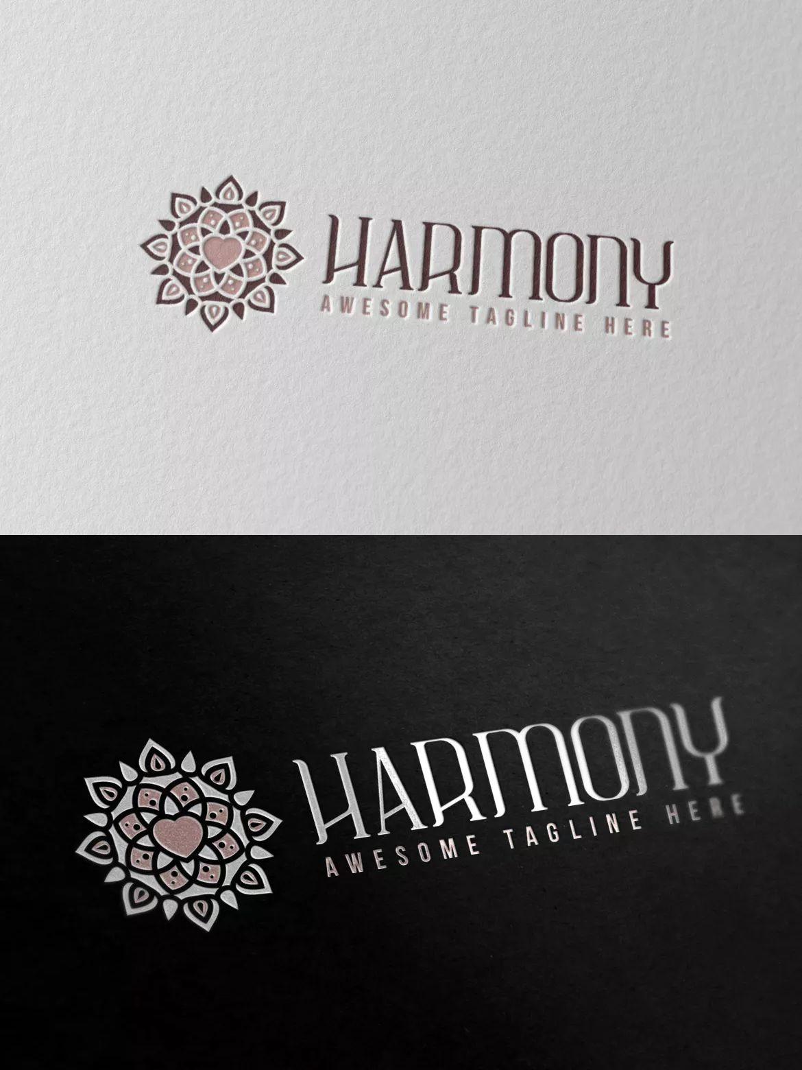 Harmony Logo 2 Template AI, EPS, PSD #unlimiteddownloads.