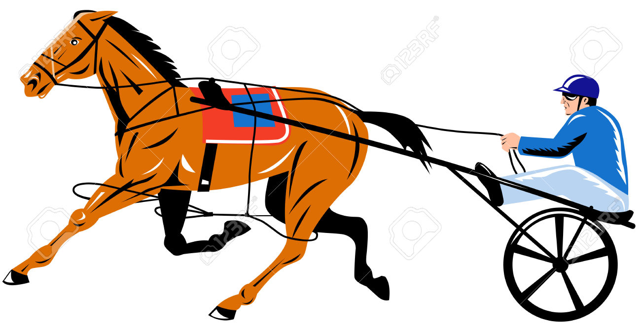 Free clipart harness racing.