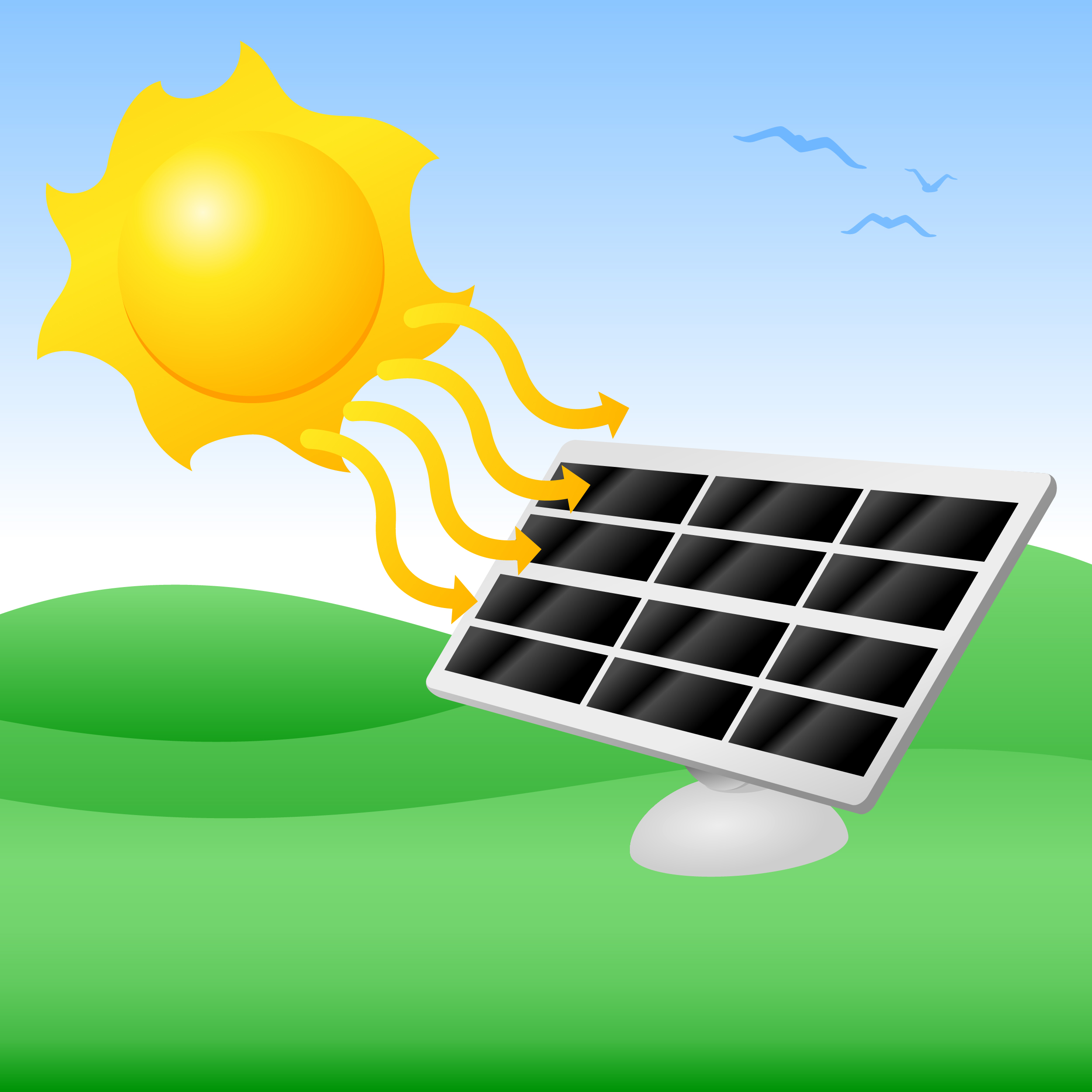 Solar field clipart clipground for Solar electricity for kids