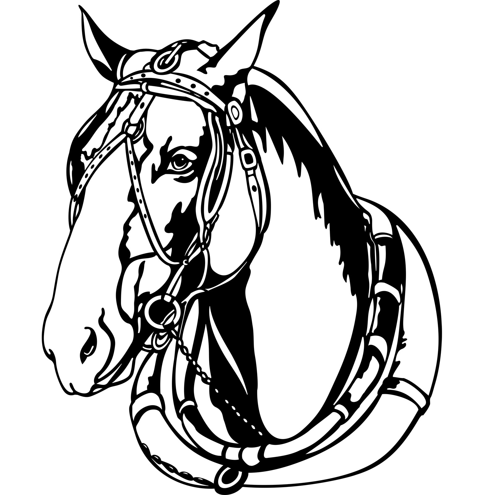 harness for horses clipart