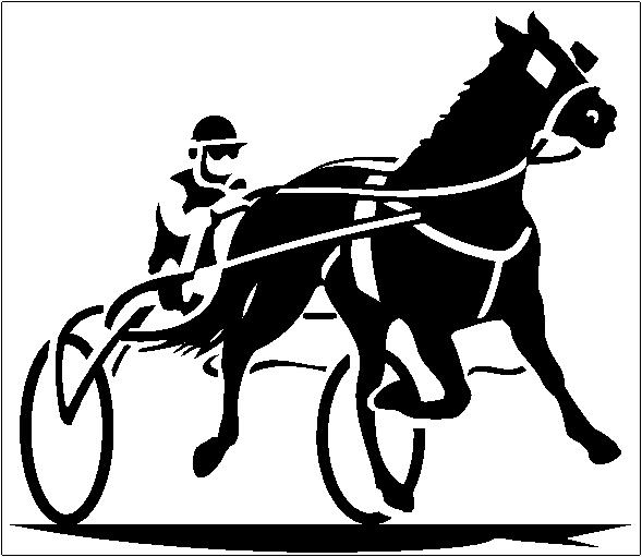Harness Horse Racing Clip Art.
