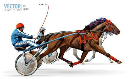 191 Harness Racing Stock Vector Illustration And Royalty Free.