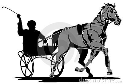 Harness Racing Stock Illustrations.