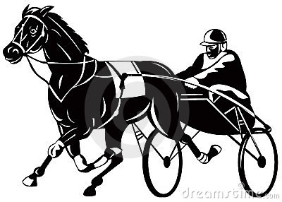 Harness Racing Stock Illustrations.