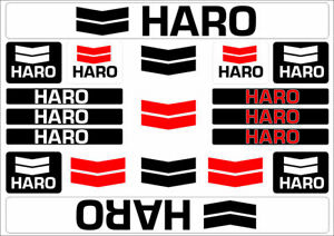 Details about HARO Bicycle Bike Frame Decals Sticker Adhesive Graphic Vinyl  Aufkleber Black.