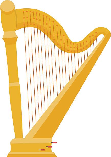Best Harp Illustrations, Royalty.