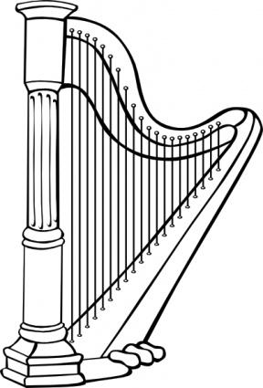 Harp clip art clip arts, clip art.