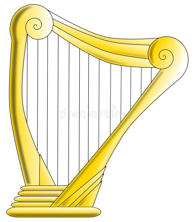 Harp Stock Illustrations.
