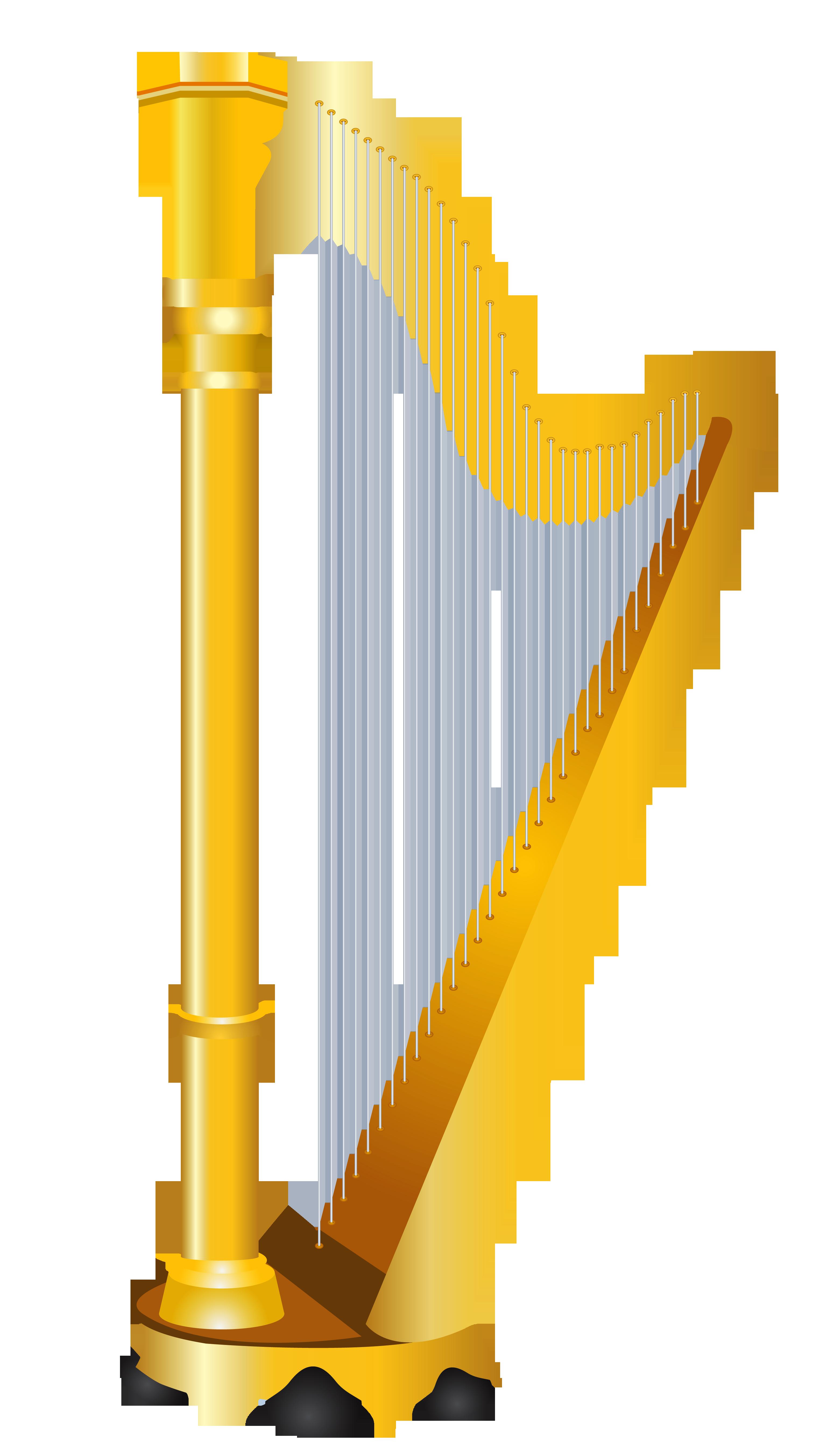 Golden Harp Clipart.