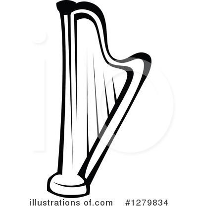 David With Harp Clip Art, Harp Free Clipart.