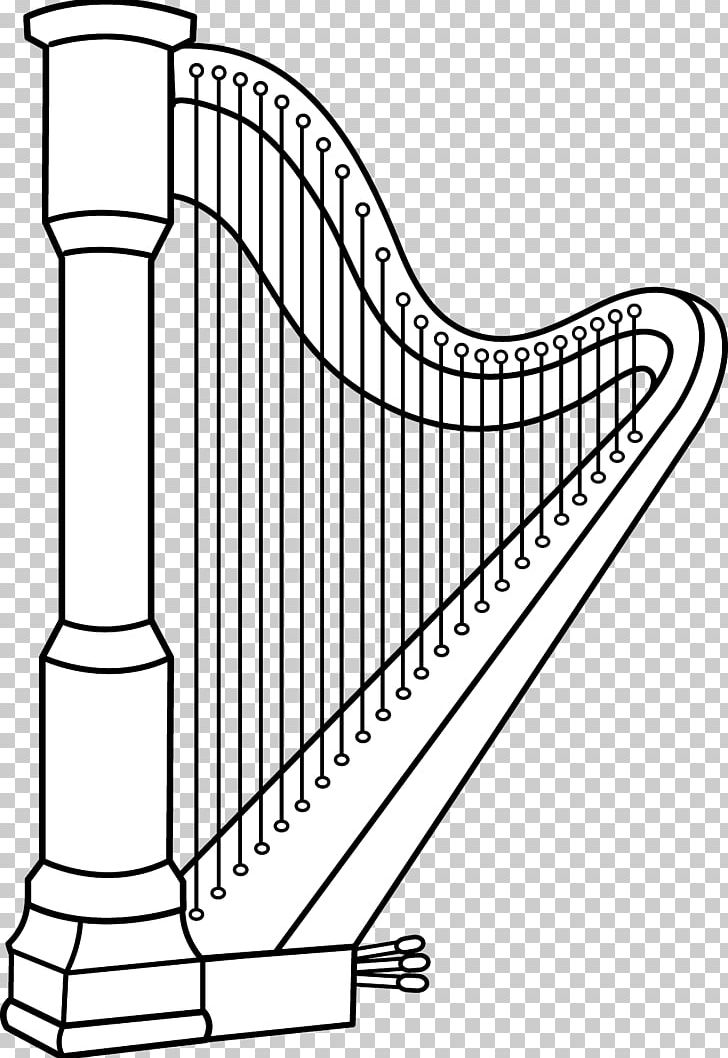Celtic Harp Musical Instruments Coloring Book PNG, Clipart.