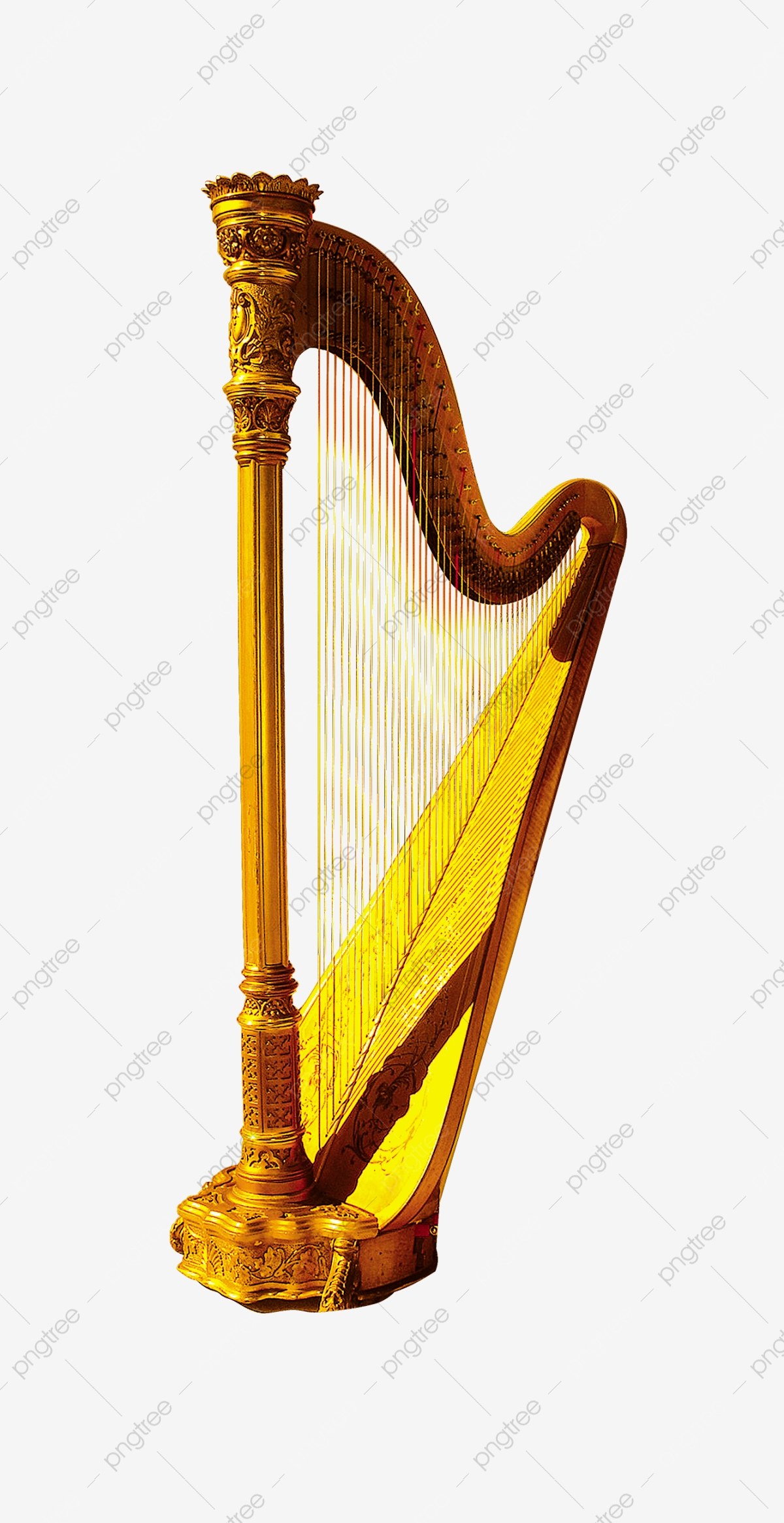 Harp, Musical Instruments, Music PNG Transparent Image and Clipart.