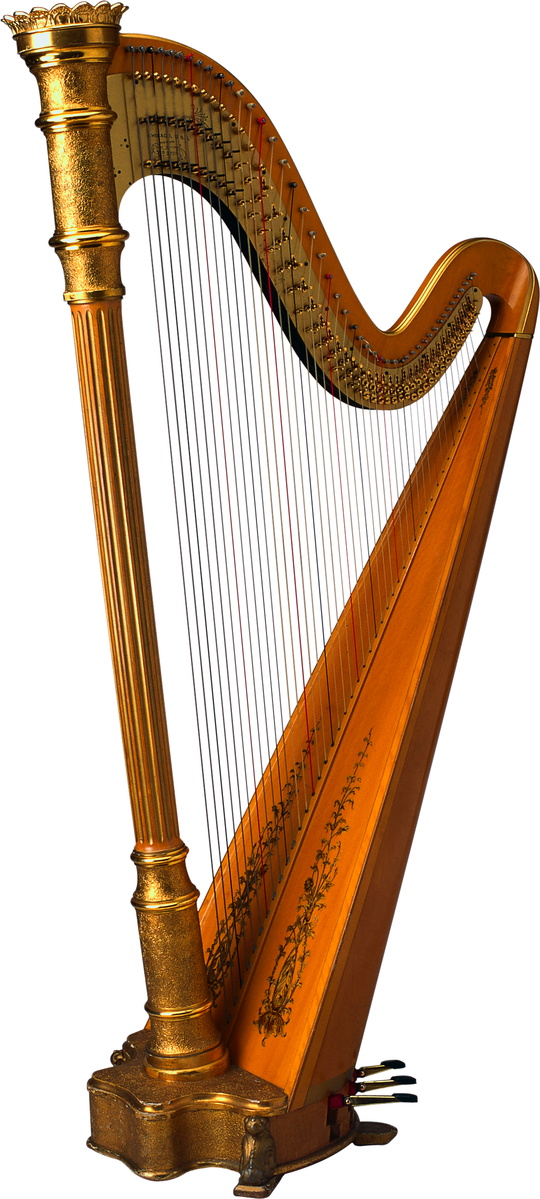 Harp PNG images free download.