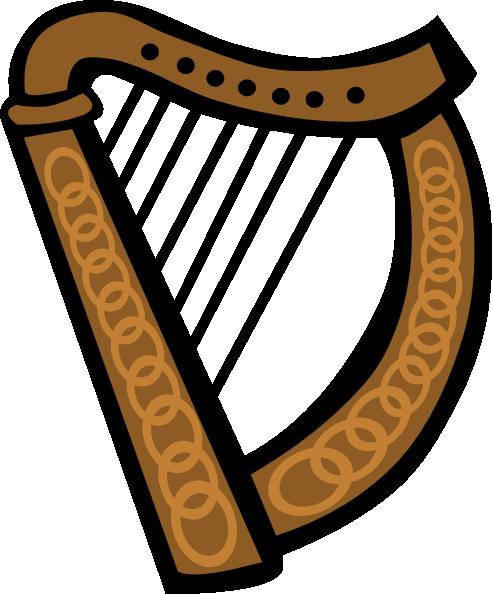 Celtic Harp Simple Clip Art at Clker.com.