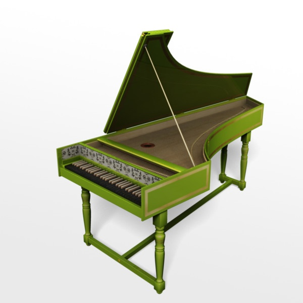 Harpsichord is so fun to play!! I would love this funky green one.