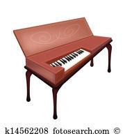 Harpsichord Clip Art Illustrations. 32 harpsichord clipart EPS.