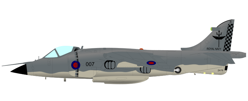 Free Sea Harrier Clip Art.