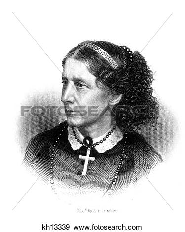 Stock Photo of 1800S 1860S Author And Abolitionist Harriet Beecher.
