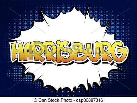 Vector Clip Art of Harrisburg.