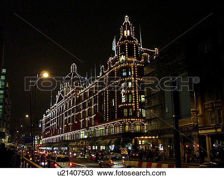 Stock Photo of England, London, Harrods, Harrods department store.